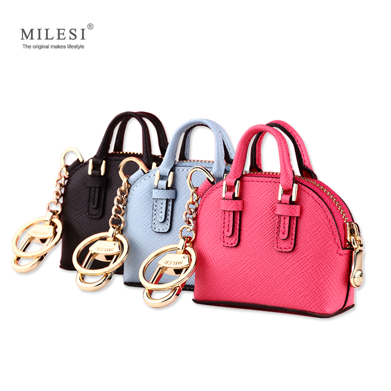 Milesi Fashion Bag Pendant Women Keychain Lady Handbag Accessories Tilbehør Søt Miniatyrveske for Smart Doll mp373