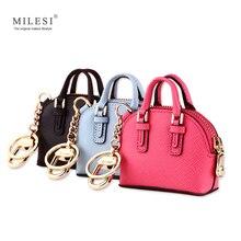 Milesi حقيبة الموضة قلادة المرأة المفاتيح سيدة ملحقات الحقائب اليدوية لطيف مصغرة حقيبة يد ل دمية الذكية mp373