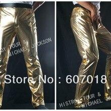 MJ Майкл Джексон История BAD классические золотые брюки для представления подарок