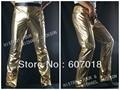 Mj майкл джексон история BAD классический золотой брюки брюки бесплатная доставка по производительности подарок