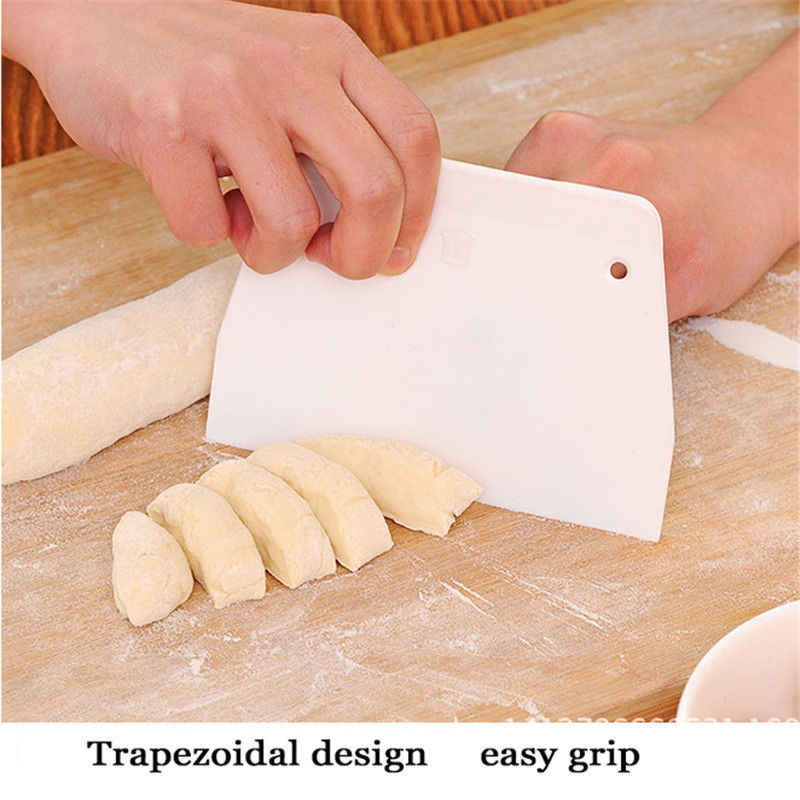 1pc Cream Smooth Cake Spatula Baking Pastry Tools Dough Scraper Kitchen Butter Knife Dough Cutter Drop shipping