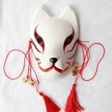 Полный ручная роспись наруто хатаке какаши анбу красный японский kitsune косплей fox маски хэллоуин костюмы персонажа из мультфильма