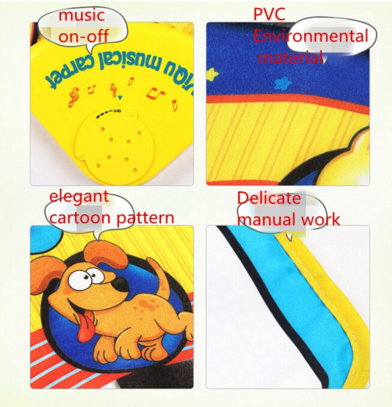 [Funny] Baby Music Sport Game Play Singing Mat 72*28cm Kids Piano Keyboard for Animal Toy musical Carpet Crawling playmat gift