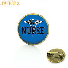 TAFREE 2017 nuovo arrivo squisito Infermiera cupola di vetro in metallo distintivo spille moda LVN RN Registered Nurse brooch di pin dei monili CT248(China)