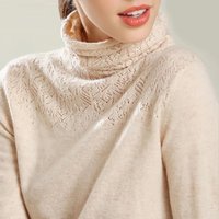 GejasAinyu2018AutumnWinter New Cashmere sweater winter clothes women turtleneck sweater Hollow women sweaters knitting pullovers