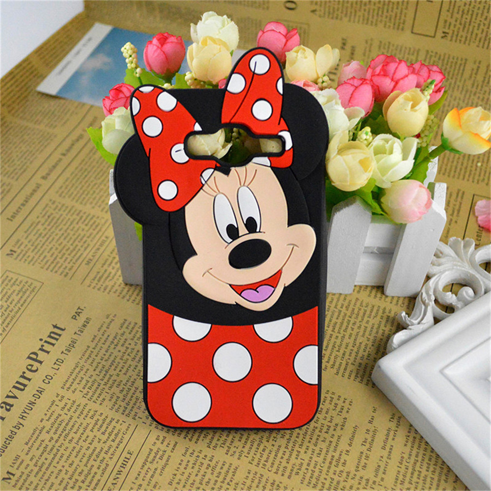 Cute Cartoon Minnie Mouse Silicone Case For Samsung Galaxy S3 S5 Neo S4 S6 S6edge S7 Edge Back Cover