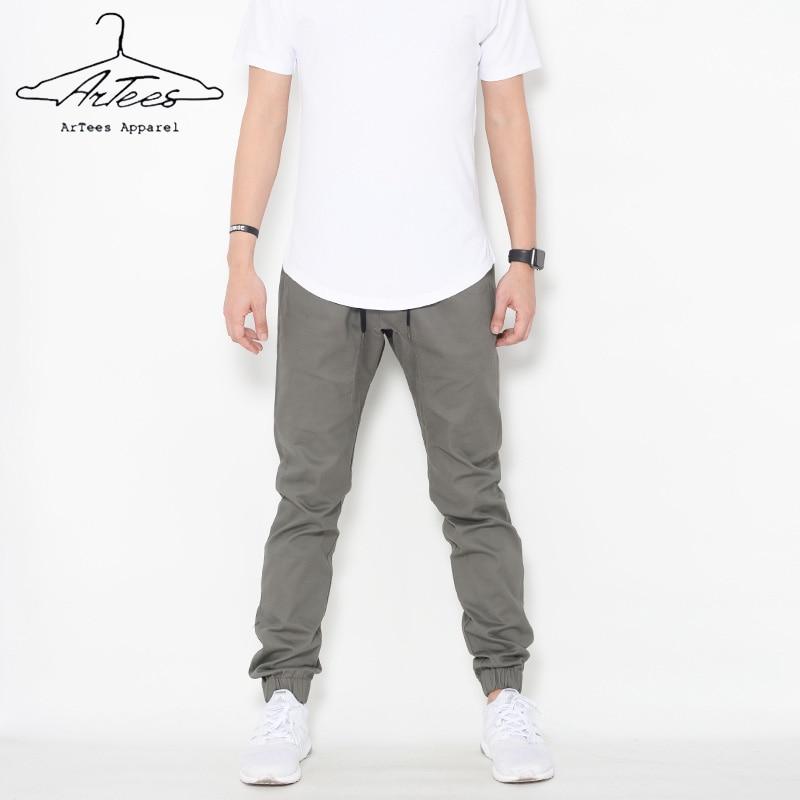 ArTees Series 2017 New Spring Men Cotton Pant Suits Ankle Length Pants Fashion Slim Fit Biker