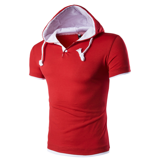 Hooded T Shirt Men Tee...