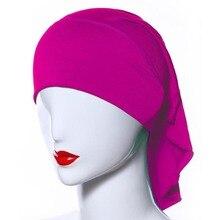 Mulheres Hijab muçulmano tampas Soft Comfort Inner islâmico sob cachecol chapéus 20 cores