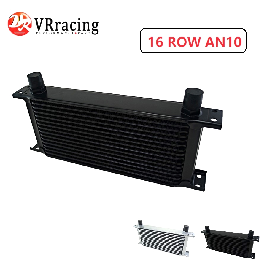 VR RACING - 16 ROW AN-10AN UNIVERSAL ENGINE TRANSMISSION OIL COOLER VR7016-2