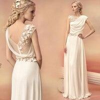 hot sexy see through flowers long evening dress 2015 new arrival formal dresses vestido longo robe de soiree white chiffon