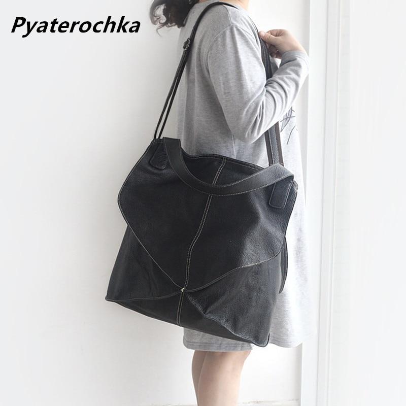 Genuine Leather Fashion Handbag Crossbody Bags For Women Geometric Big Tote Shoulder Bag Ladies Luxury Brand Leather Handbags