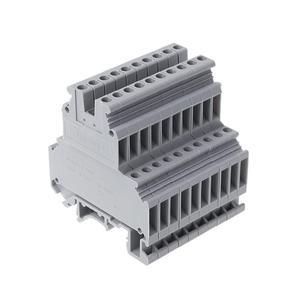 Image 1 - UKK3 dinレールダブルレベルデュアル行端子台 500v 25A 28 12AWGグレー 50 個