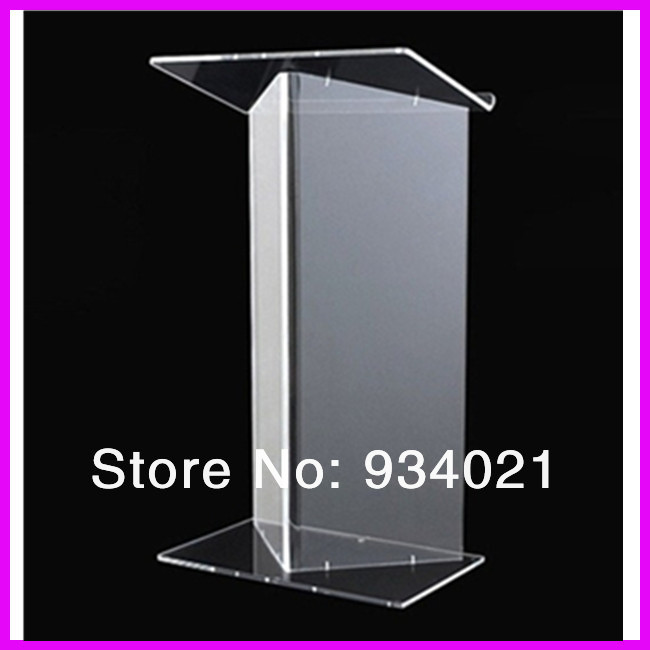 Free Shipping Cheap Acrylic Lectern, Acrylic Church Podiums Plexiglass