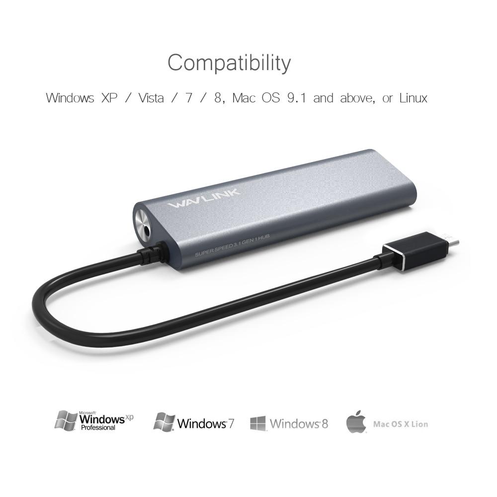 Wavlink Aluminum USB 3.1 Tipo C a 4 puertos USB 3.0 Alta velocidad - Periféricos de la computadora - foto 3