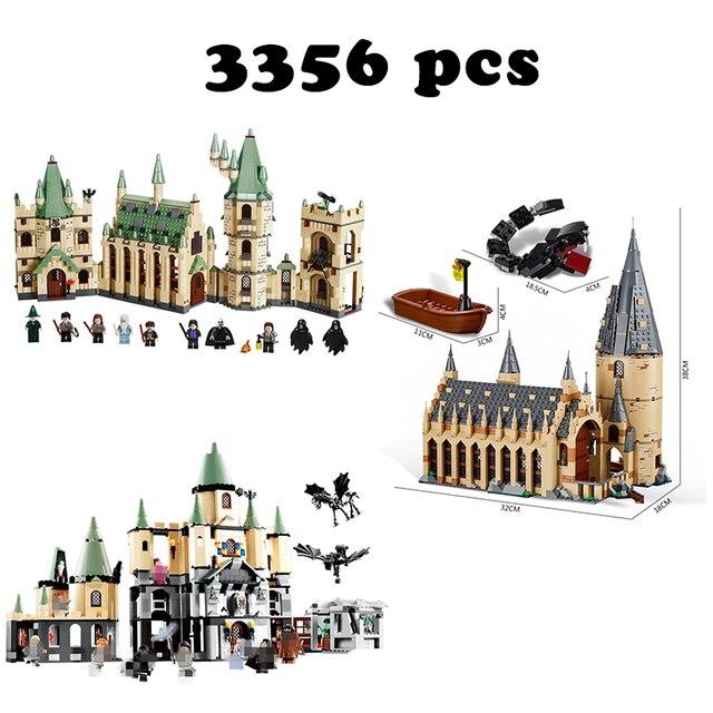 3 in 1Model building kits Compatible with Harry Potter Lego quidditch Hogwarts Great Hall Magic hogwort castle Hogwarts Castle