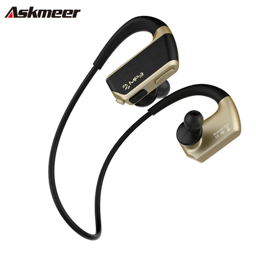 Askmeer J2 8G Anti-Sweat Mp3 Music Player+Wireless Bluetooth Handsfree Headset with Mic Sport Running Earphone Earbuds for Phone customized 3d wallpaper 3d pvc floor painting wallpaper sea fish 3d floor tile beauty 3d wall murals room decoration