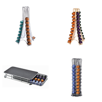 Rotating coffee display stand 60 Coffee Capsules Pod Holder Stand Dispenser Rack Storage Capsule For NESPRESSO