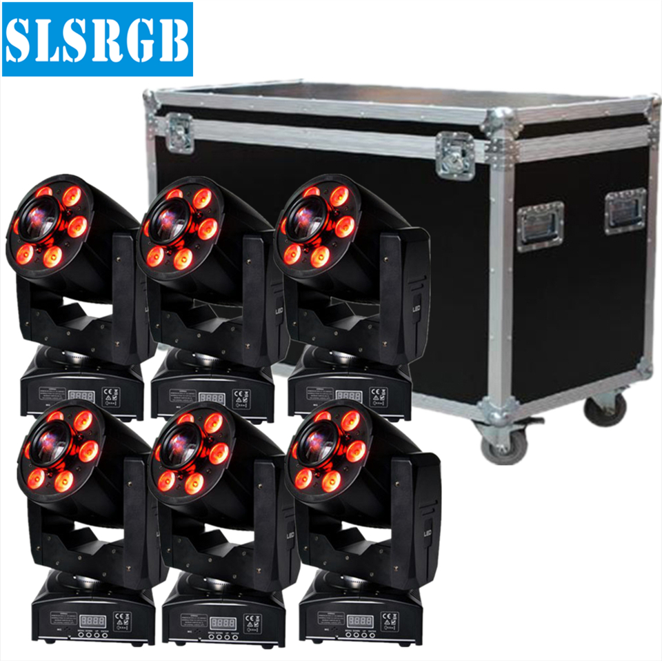6pcs/lot with flight case 30W led spot + 6x8W RGBW led wash moving heads small led spot light 30W spot + 6pcs 8W wash moving|led wash moving head|wash moving head|led wash - title=