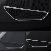 Подходит для Audi Q3 F3 автомобильный Стайлинг из нержавеющей двери автомобиля громкий динамик Звуковая крышка отделка 4 шт. авто аксессуары