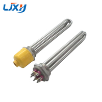 LJXH DN40 Tubular Water/Oil Heating Element 304SS 220V/380V 3KW/4.5KW/6KW/9KW/12KW Spare Parts for Heat conducting Oil Stove