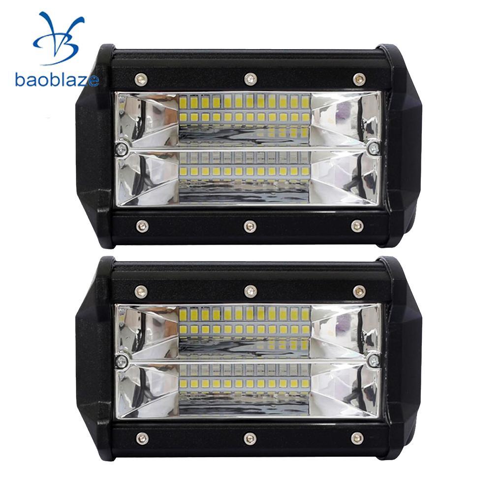 2x Universal 72W Car Boat Truck SUV ATV 24 LED Working Spot Light Bar Lamp цена 2017
