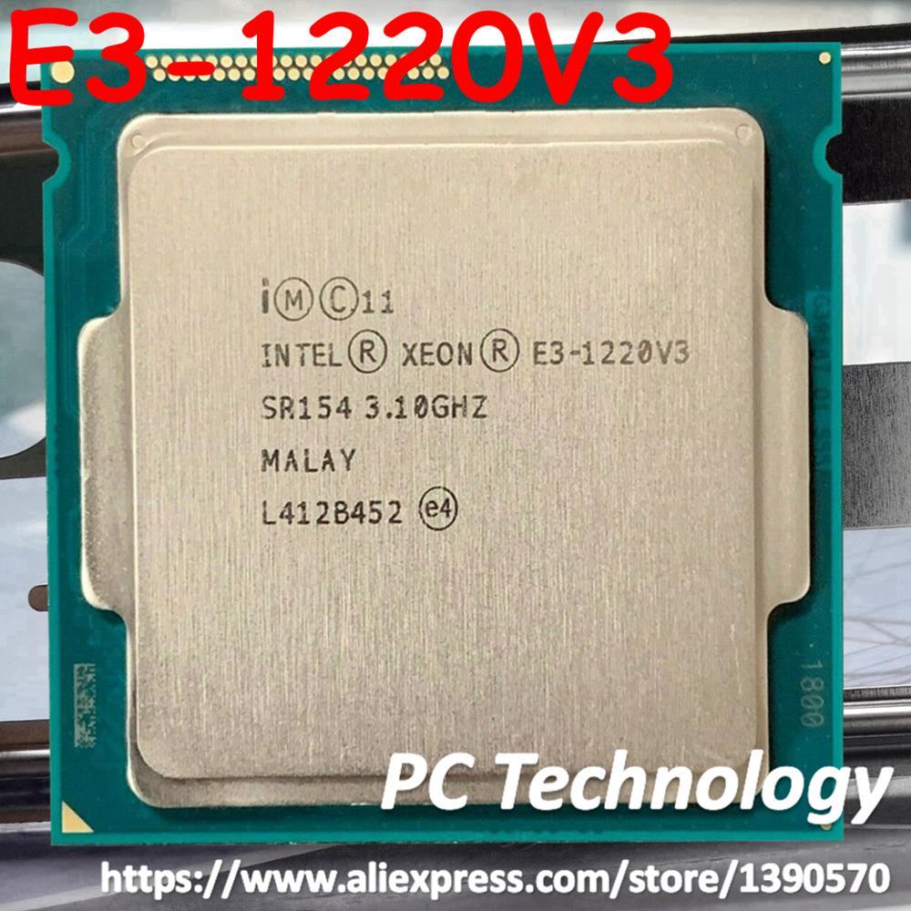 Originele Intel Xeon E3 1220V3 CPU 3.10GHz 8M LGA1150 Quad core Desktop E3 1220 V3 processor Gratis verzending E3 1220 V3 E3 1220V3-in CPU's van Computer & Kantoor op AliExpress - 11.11_Dubbel 11Vrijgezellendag 1