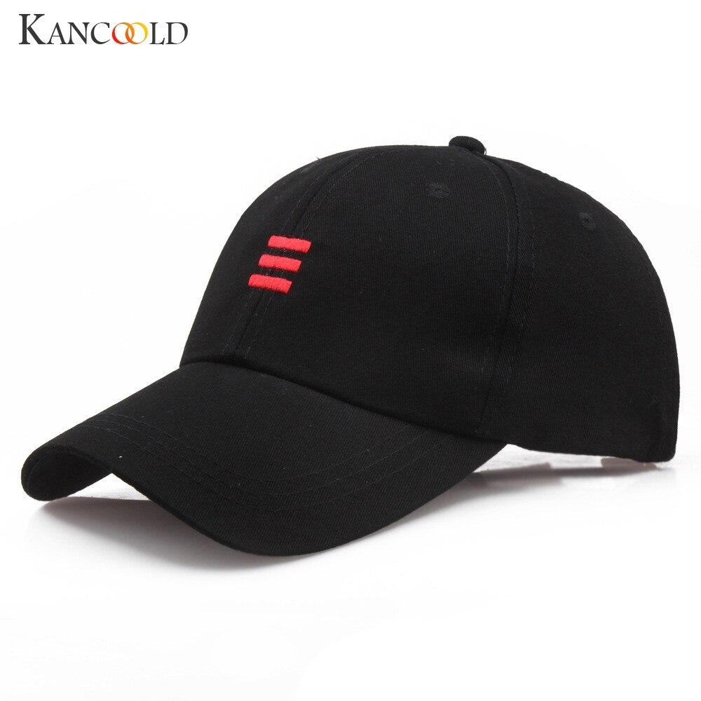 d50c439779308 2018 New Cap Men Embroidery Red Line Dad Hat Black Casual Women Baseball  Caps Adjustable Gorras Snapback Fashion Brand Sun Hats