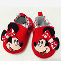 2016 New Fashion Cute Cartoon Mickey Minnie Newborn Baby First Walkers Infant Toddler Boys Girls Kids Soft Soled Anti-slip Shoes