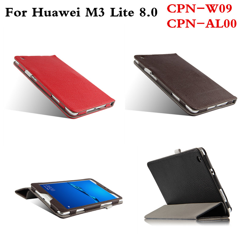 Luxury Business Genuine Leather Cover Protective shell Book Case For Huawei MediaPad M3 Lite 8 8.0 inch CPN-W09 CPN-AL00 Tablet coque smart cover colorful painting pu leather stand case for huawei mediapad m3 lite 8 8 0 inch cpn w09 cpn al00 tablet