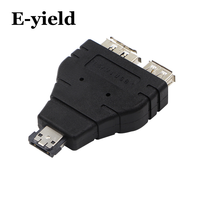 Power ESATA To ESATA  USB Combo Splitter Converter Adapter Connector Hard Disk Cable Dual Port Converters Universal