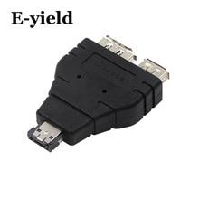 Power eSATA To eSATA  USB Combo Splitter Converter Adapter Connector Hard Disk Cable Dual Port Converters Universal