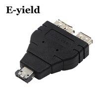 כוח eSATA לesata USB משולבת ספליטר ממיר מתאם מחבר דיסק קשיח כבל כפול יציאת ממירי אוניברסלי