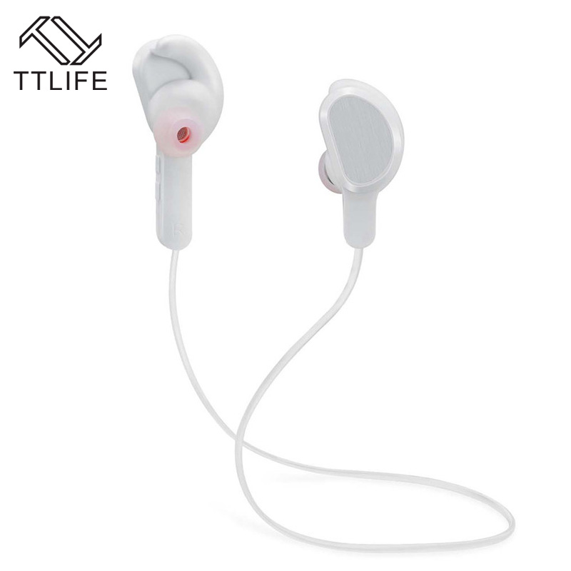 TTLIFE Wireless Headset with Mic Bluetooth V4.1 Stereo Sports Earphone Sweatproof Handsfree Earbuds for iPhone 7 6 Mobile Phones 2017 ttlife mini wireless earphone bluetooth headsets airpods with mic 2 in 1 with car charger for iphone 7 xiaomi mobile phones