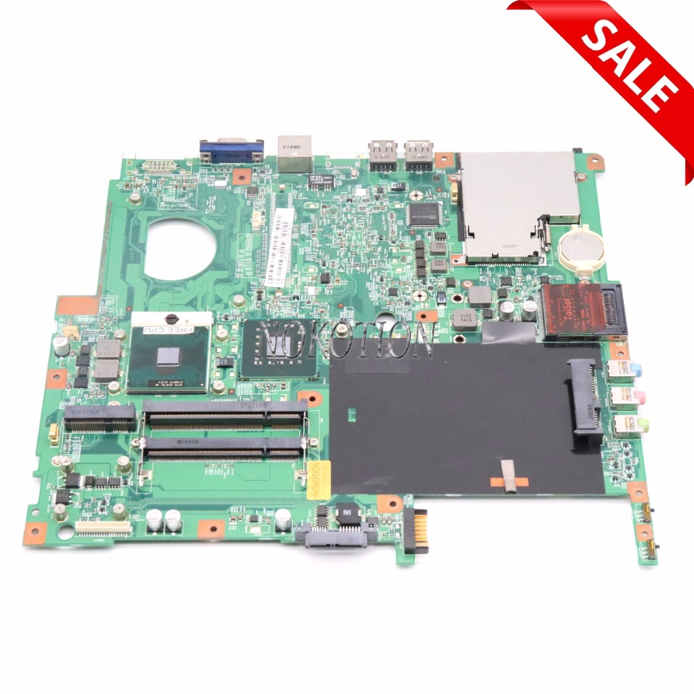 NOKOTION MB.TRM01.001 MBTRM01001 48.4Z401.01M Laptop Motherboard For acer Extensa 5630 5220 DDR2 Without graphics Slot FREE CPU la 5971p for lenovo g455 laptop motherboard hd 4250m ddr2 free cpu