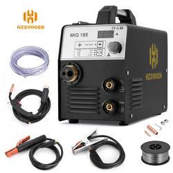 HZXVOGEN 220 В Mig сварочный аппарат MIG185 MIG ARC TIG сварочный аппарат 3 в 1 сварочный аппарат без газа сварочный аппарат Mig сварочный аппарат для домашне...