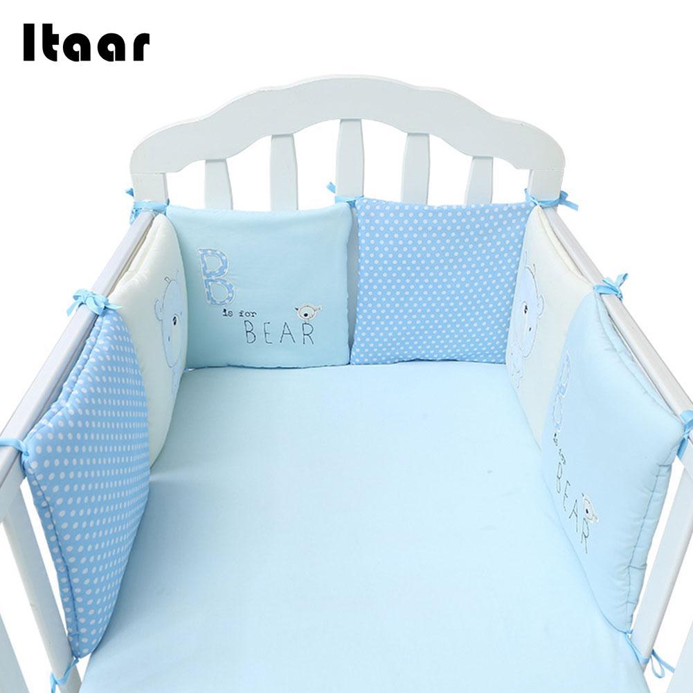 6 шт./компл. удобная детская кровать бампер кроватка протектор дышащие детские кроватки протектор подушка малышей детские постельные прина...