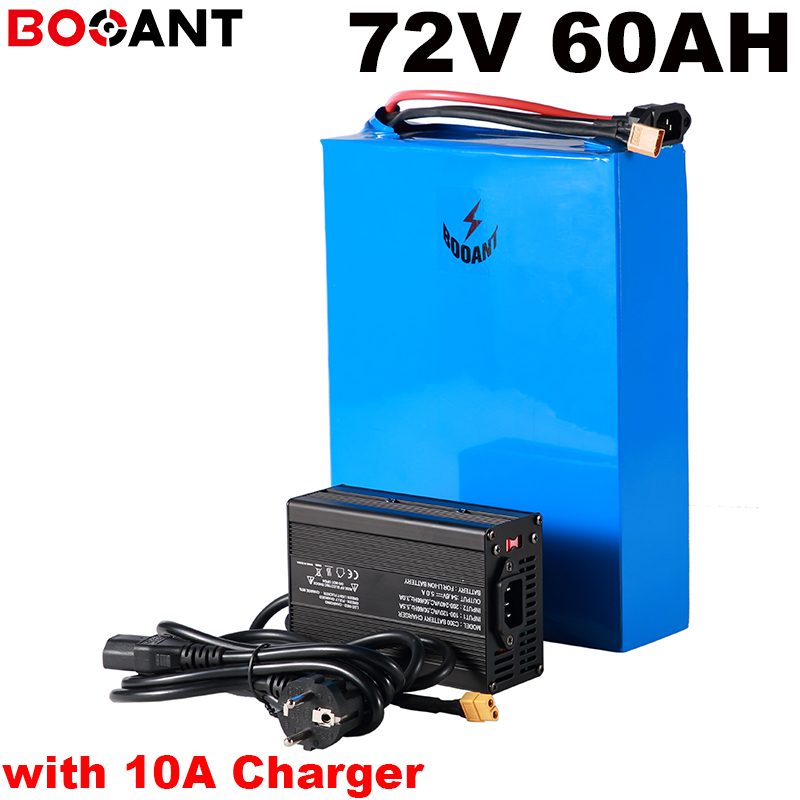powerful 5000W <font><b>72V</b></font> <font><b>60AH</b></font> E-bike <font><b>lithium</b></font> <font><b>battery</b></font> for SAMSUNG 35E Sanyo 18650 cell <font><b>72V</b></font> electric Scooter <font><b>battery</b></font> pack +10A Charger image