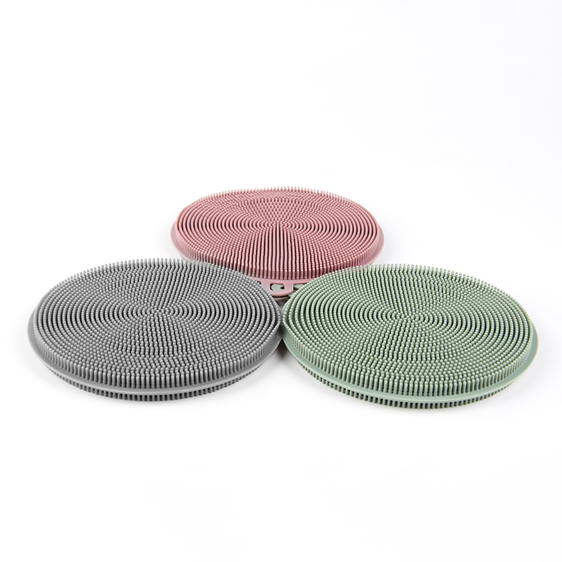 050 Kitchen multifunctional Circular silicone brush cleaning grease brush 12 11cm in Cleaning Brushes from Home Garden