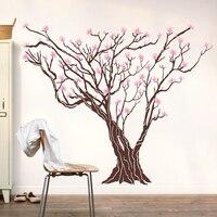 2015 New Flower Tree vinyle stickers muraux fleur sur arbre Art Mural énorme Wall Sticker salon décoration amovible