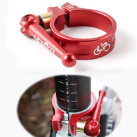 Foldable Bicycle Bike Quick Release Seatpost Clamp Cycling Seat Tube Seat Posts Clamp Alloy 41MM Seat