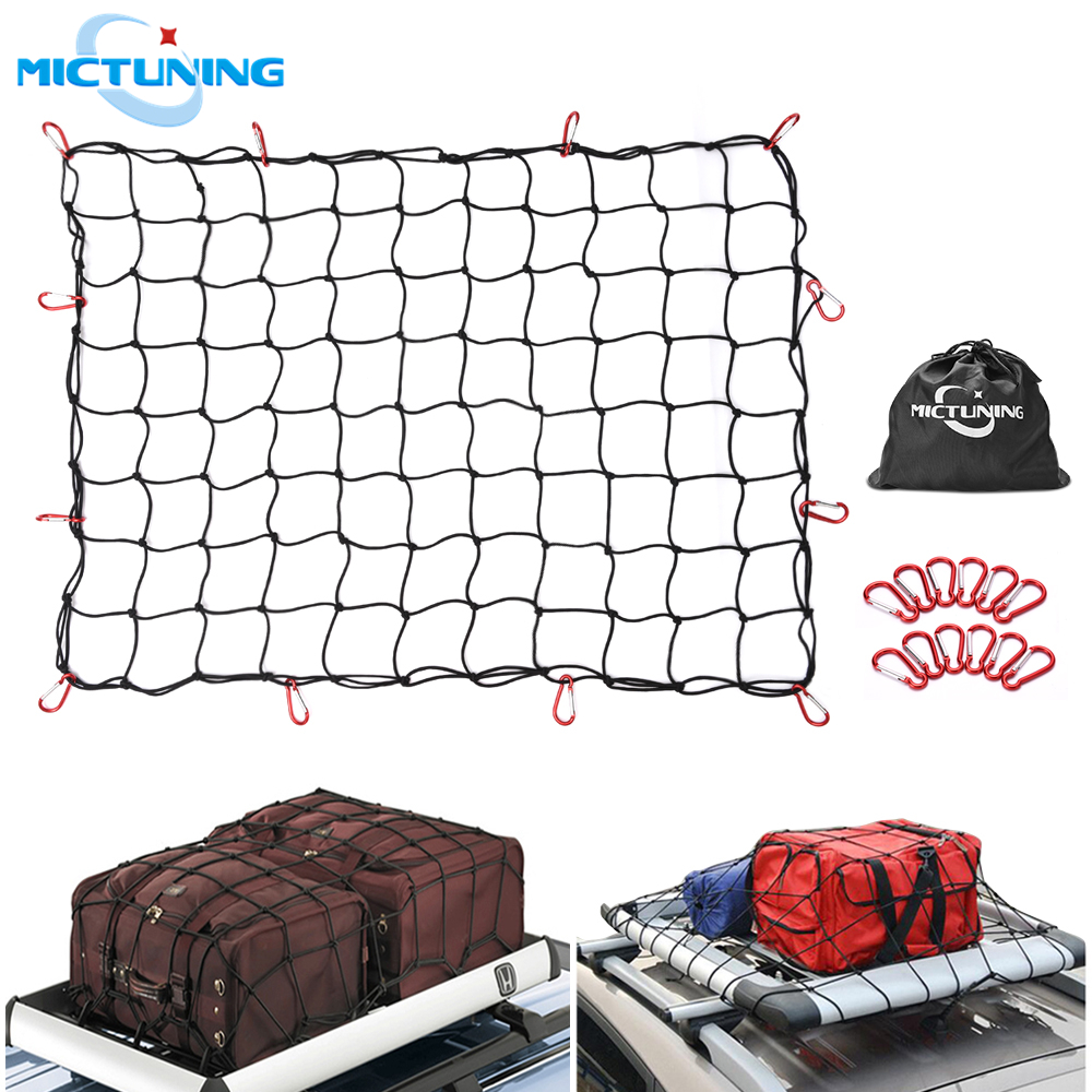 120x90cm Hook Elastic Car Trailer Roof Rack Boot Luggage Bungee Cord Cargo Net