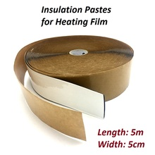 5 Meters Carbon Underfloor Heating Film Insulation Daub 50cm X 5m Water proof Insulation Pastes