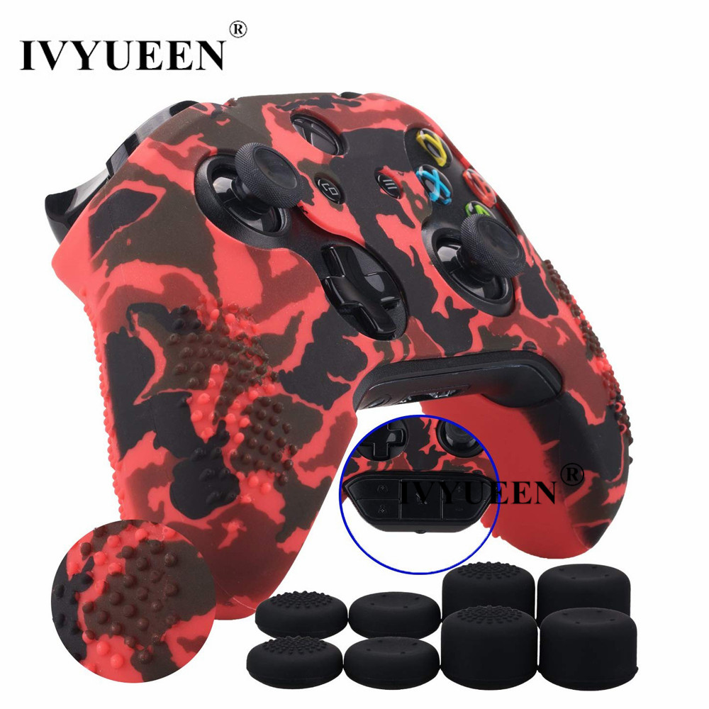 IVYUEEN 15 Colors Silicone Cover for Microsoft Xbox One X S Slim Controller Protective Case Skin with Analog Thumb Stick GripIVYUEEN 15 Colors Silicone Cover for Microsoft Xbox One X S Slim Controller Protective Case Skin with Analog Thumb Stick Grip