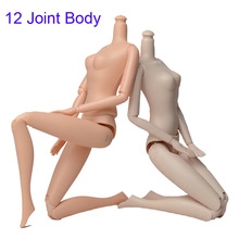 1pc 1/6 12 Jointed DIY Movable Nude Naked Doll Body For 29cm House Without Head Children Gifts