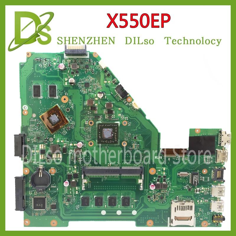 KEFU X550EP motherboard For Asus F552E F552EP X552E A552E X550E X550EP X552EPlaptop motherboard With Processor tested mainboard for asus motherboard r510cc x550cc rev2 0 2117u processor gt720m ddr3 1600 mhz hm76 chipset 100% test