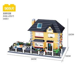 Image 3 - 816 個 wange 34053 超大型ヴィラビルディングブロック eductional おもちゃ構造互換レンガとブロックハウスギフト