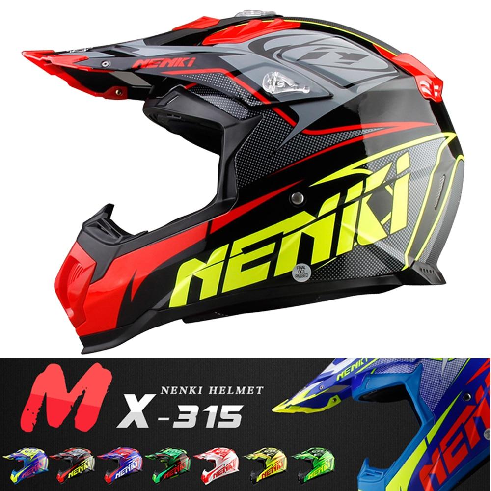 NENKI motocicleta Motocross Casco carretera Casco Capacete Cruz cuesta abajo Moto MTB MX ATV DH Kask para cascos de bicicleta de tierra