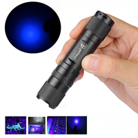 UniqueFire Money Detector Flashlight 365 nm UV Led Ultraviolet MINI Flashlight 1 Mode Suitable for Checking Cash(Currency)