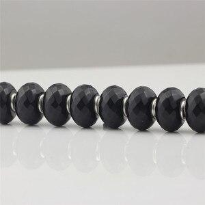 Image 5 - פיאות שחור טבעי קסמי חרוז אותנטי 925 כסף סטרלינג Fit אירופאי סגולה צמידי אופנה חרוזים להכנת תכשיטים